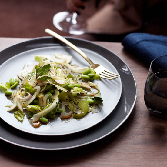 Edamame, Celery and Fennel Salad with Candied Lemon