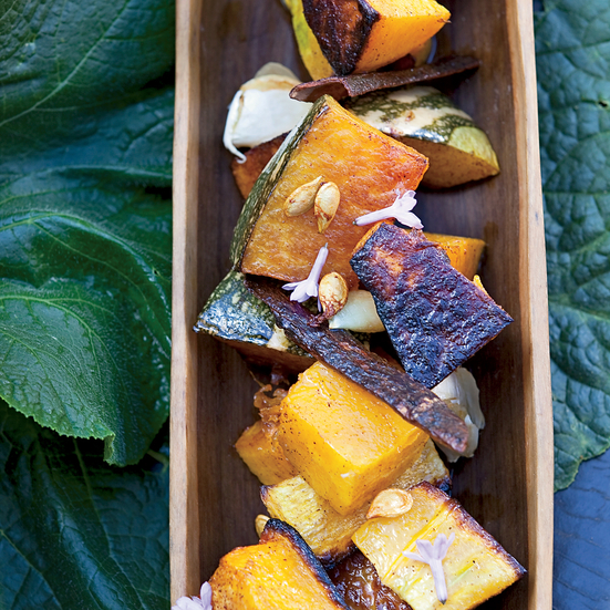 Sugar-and-Spice Roasted Squash