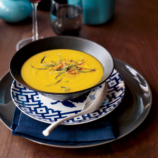 Thai Red-Curry Squash Soup. Photo © Con Poulos
