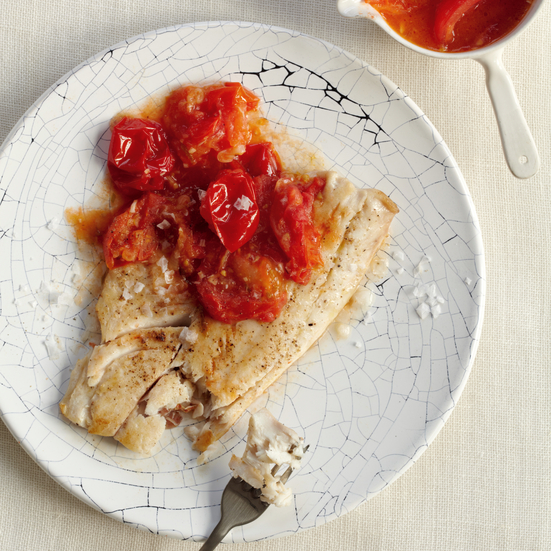 Wild Striped Bass with Tomato Fondue