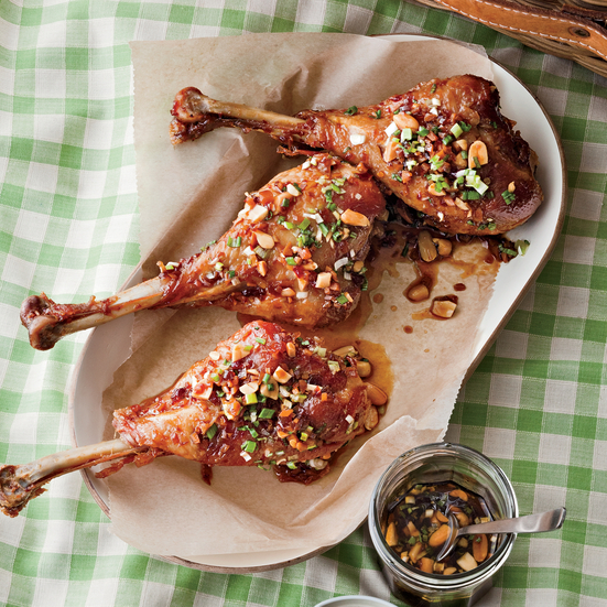 Kung Pao Turkey Drumsticks
