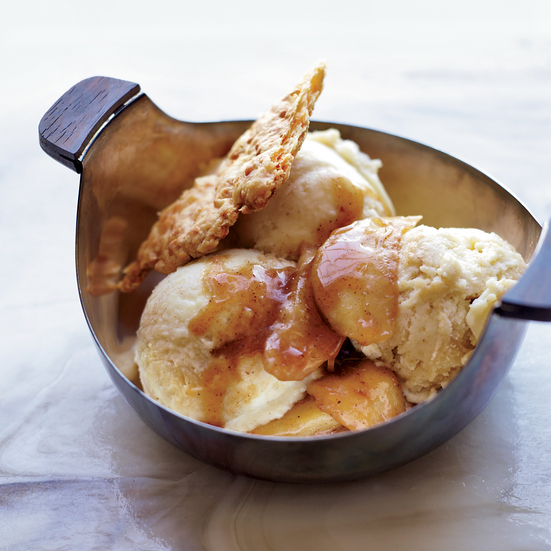 Apple Pie Sundaes with Cheddar Crust Shards. Photo © Con Poulos