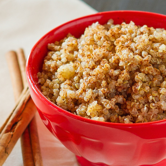 Quinoa Pilaf with Cinnamon and Sugar