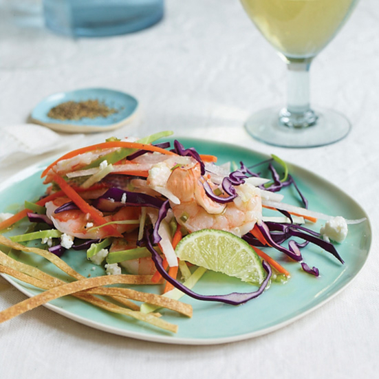 Shrimp Slaw with Cilantro-Lime Vinaigrette