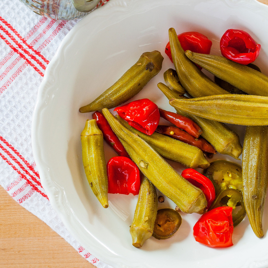 Sweet and Spicy Pickled Okra Recipe - Emily Farris | Food & Wine