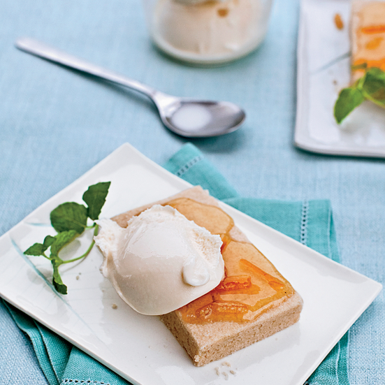 Shortbread with Marmalade and Vanilla Ice Cream
