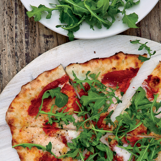 Sun-Dried Tomato and Arugula Pizza