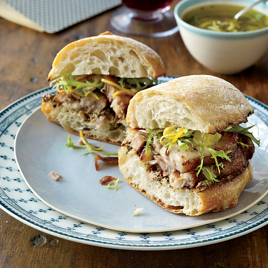 Crispy Pork Belly Sandwiches with Meyer Lemon Relish