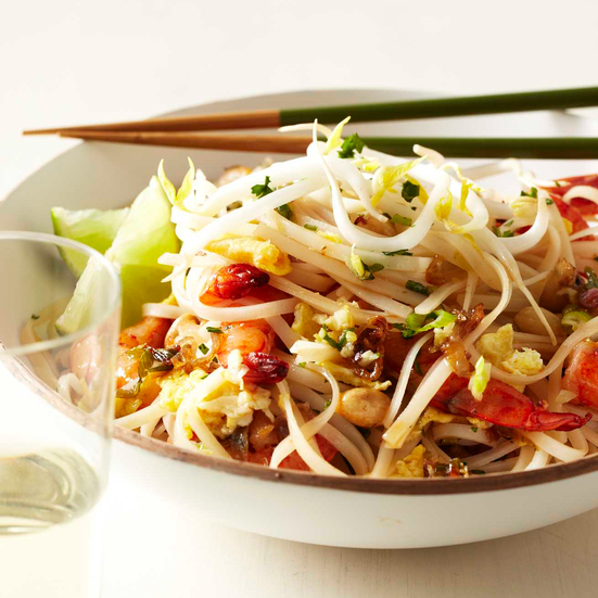 Quick Shrimp Pad Thai. Photo © Kate Mathis