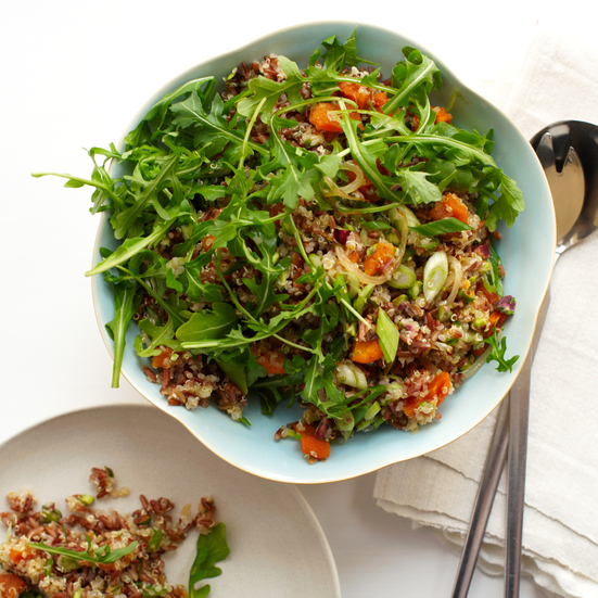 Red Rice and Quinoa Salad with Orange and Pistachios. Photo © David Malosh