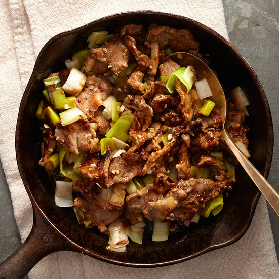 Stir-Fried Pork with Leeks