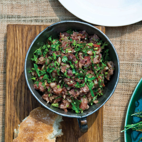 Cranberry Bean Salad with Celery, Basil and Mint