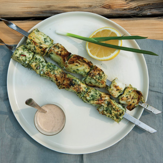 Herb-and-Chile-Marinated Fish Shashlik