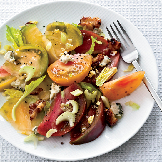 Tomato Salad with Walnuts & Blue Cheese