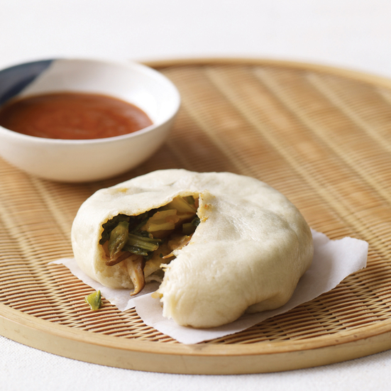 Asian Steamed Buns with Bok Choy