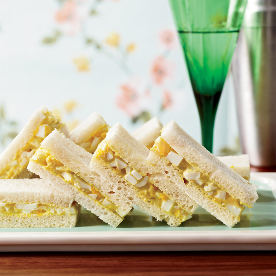 Curried-Egg Tea Sandwiches. Photo © Con Poulos