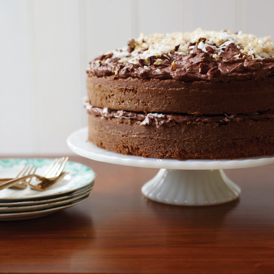 German Chocolate Cake. Photo © Con Poulos