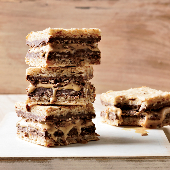 Hazelnut, Nutella and Caramel Ice Cream Sandwiches