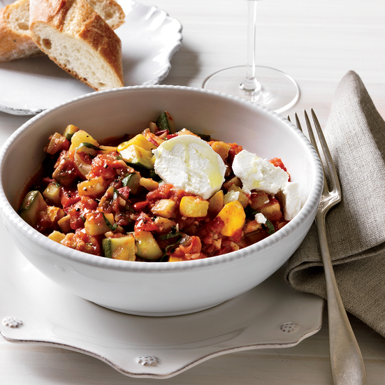 Speedy Ratatouille with Goat Cheese