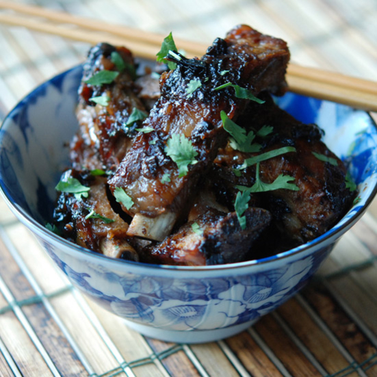 Baby Back Ribs with Black Beans and Scallions