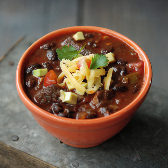 Game-Day Pork and Black Bean Chili