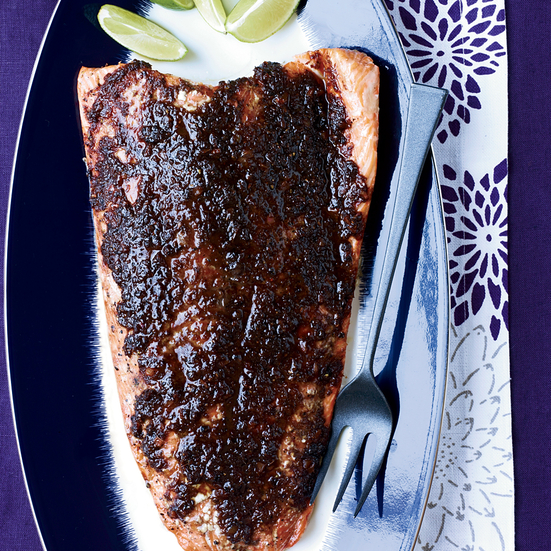 Slow-Roasted Salmon with Tamarind, Ginger and Chipotle