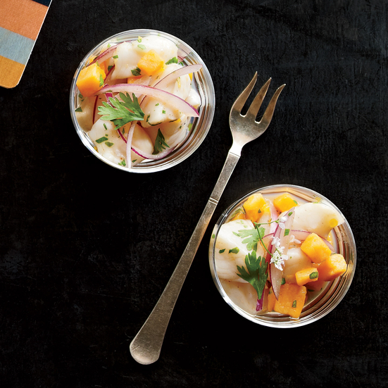 Scallop Ceviche with Sweet Potato