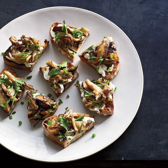 Wild Mushroom Crostini Recipe - Ford Fry | Food & Wine