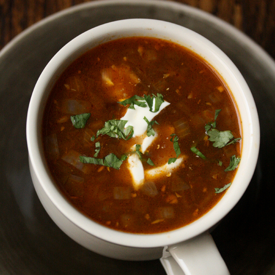 Ancho Chile Black Bean Soup
