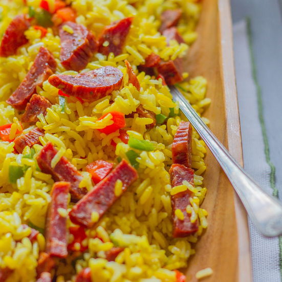 Arroz con Chorizo (Puerto Rican Rice with Sausage)