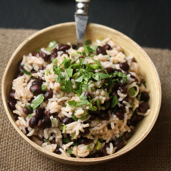 Black Bean and Rice Salad with Spicy Lime Dressing