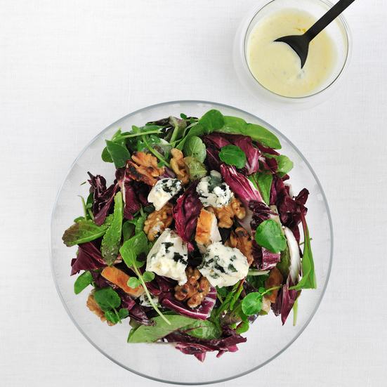 Chicken Salad with Walnuts and Roquefort Dressing