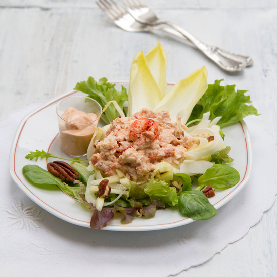 Crab Salad with Apple, Endives and Pecans