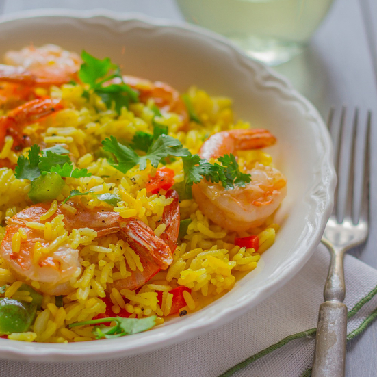 Puerto Rican Rice with Shrimp and Peppers