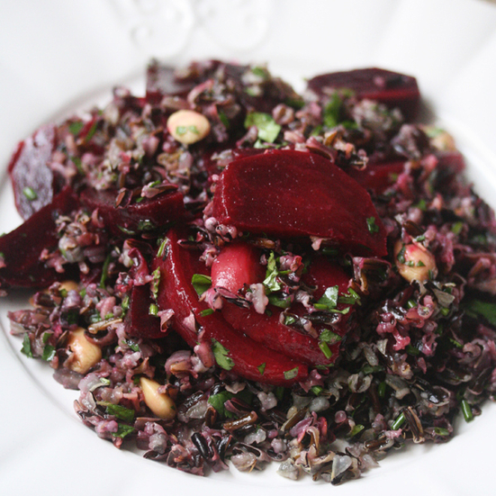 Wild Rice and Beet Salad