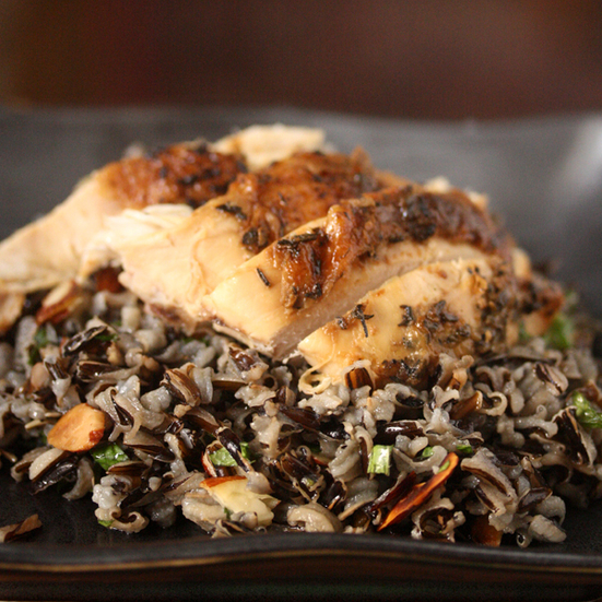 Wild Rice with Roasted Chicken
