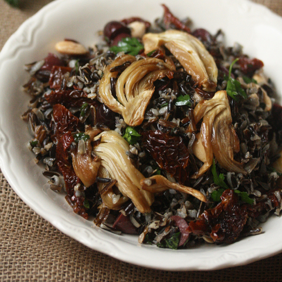 Wild Rice with Roasted Fennel and Sundried Tomatoes