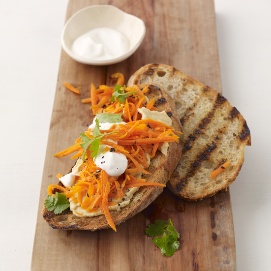 Spicy Carrot Sandwiches