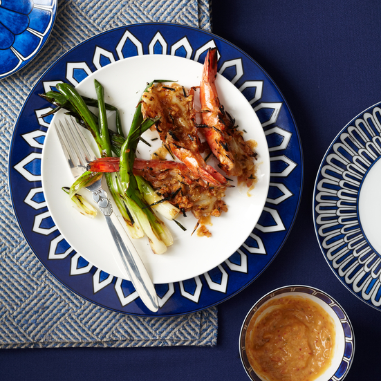Grilled Jumbo Shrimp with Kimchi-Miso Butter Recipe - Grace Parisi ...