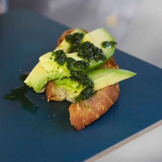 Avocado Crostini Two Ways