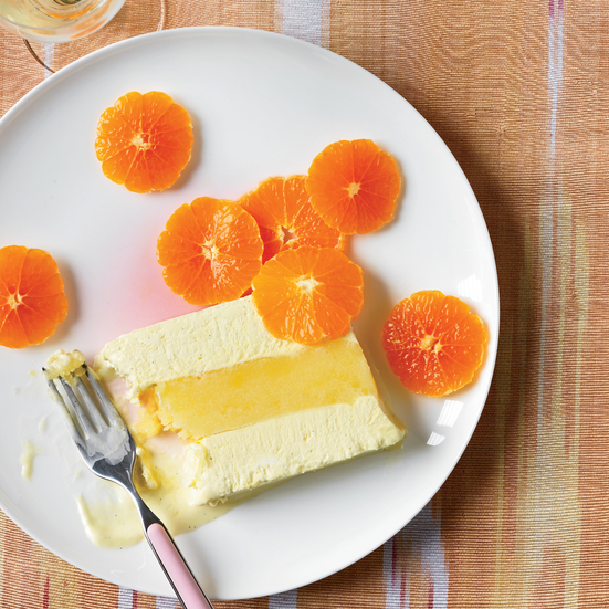 Vanilla Semifreddo and Orange Sorbet Terrine