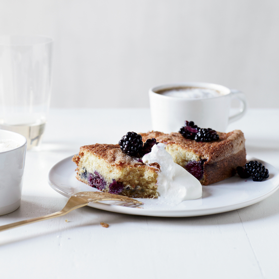 Buttermilk Cake with Blackberries