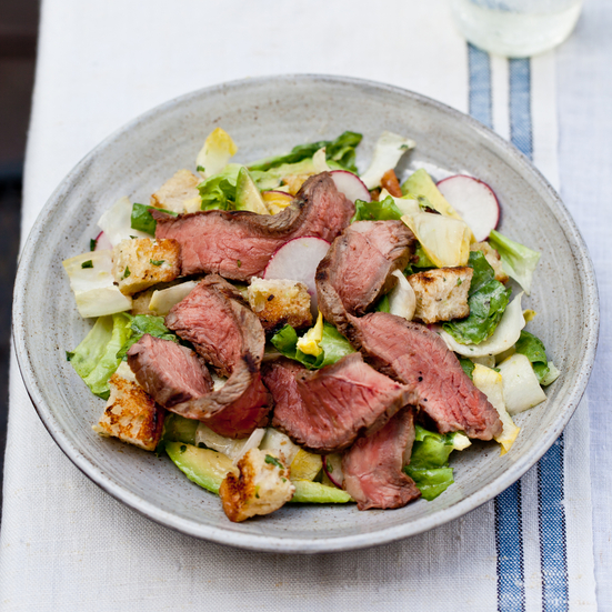 Steak Salad with Creamy Italian Dressing