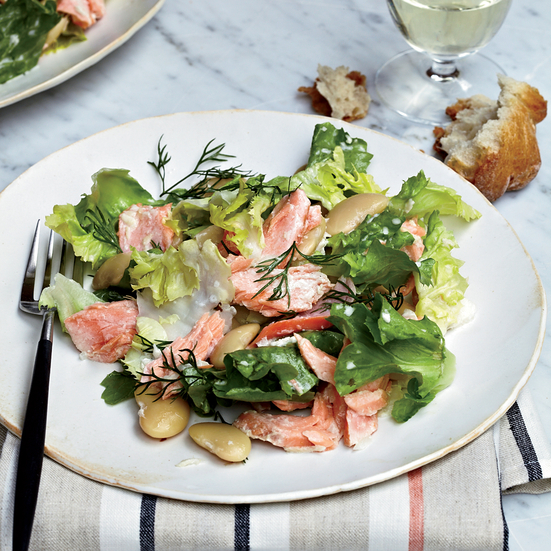 Poached-Salmon Salad