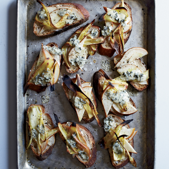 Pear, Parsnip & Fourme d'Ambert Tartines