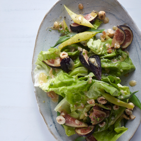 Butter Lettuce & Romano Bean Salad with Fig Vinaigrette