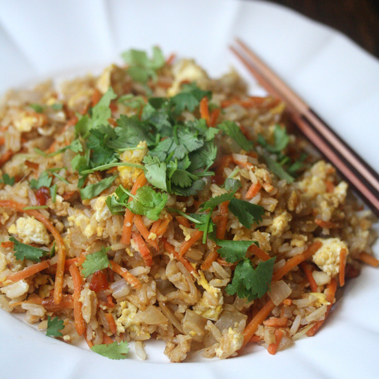 Spicy Carrot Fried Rice
