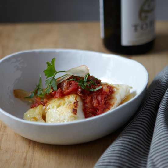 Cod with Tomato Ginger Sauce