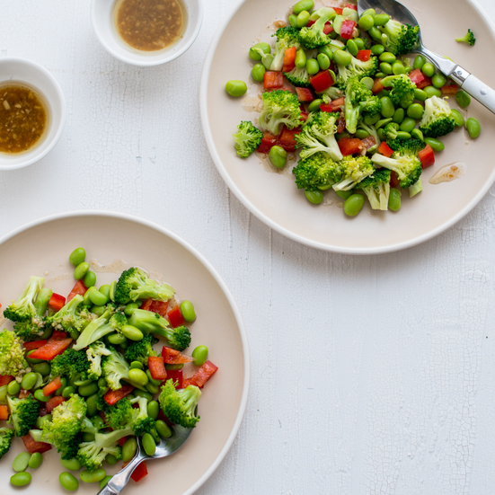 Broccoli and Edamame Salad with Soy Vinaigrette