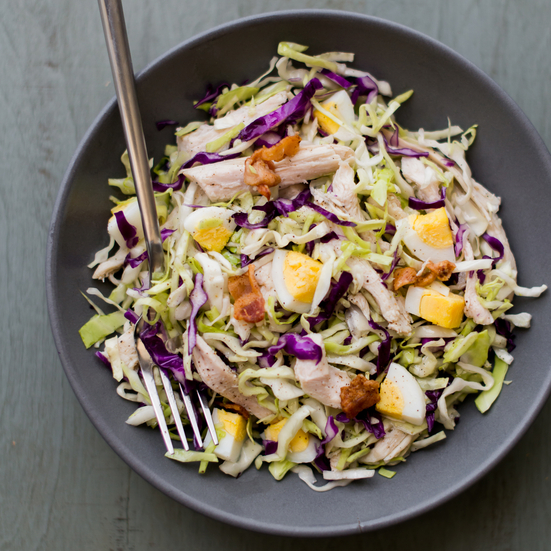 Chopped Cabbage and Turkey Salad